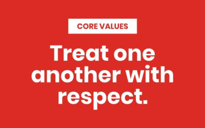 Treat one another with respect