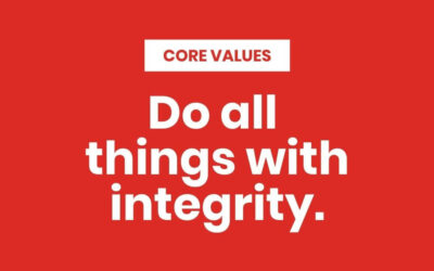 Do all things with Integrity